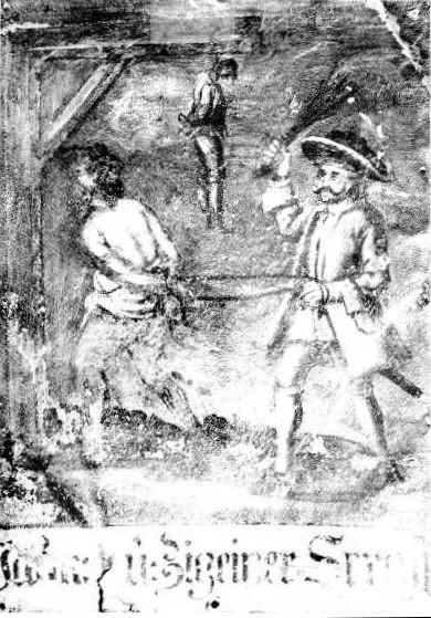 Bestrafung von aufgegriffenen Zigeunern, Nördlingen 1700