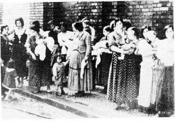 Familien warten auf die Deportation, Deutschland 1939