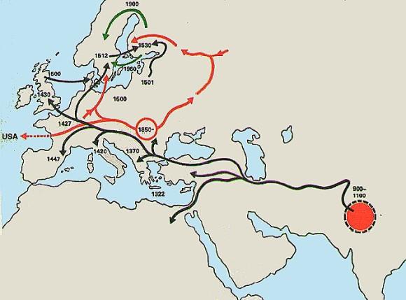 Die Wanderungen der Roma