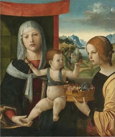 Antonio Solario: Madonna mit Kind und der hl. Dorothea